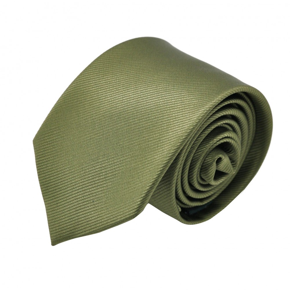 Cravate Homme Attora. Vert strié.