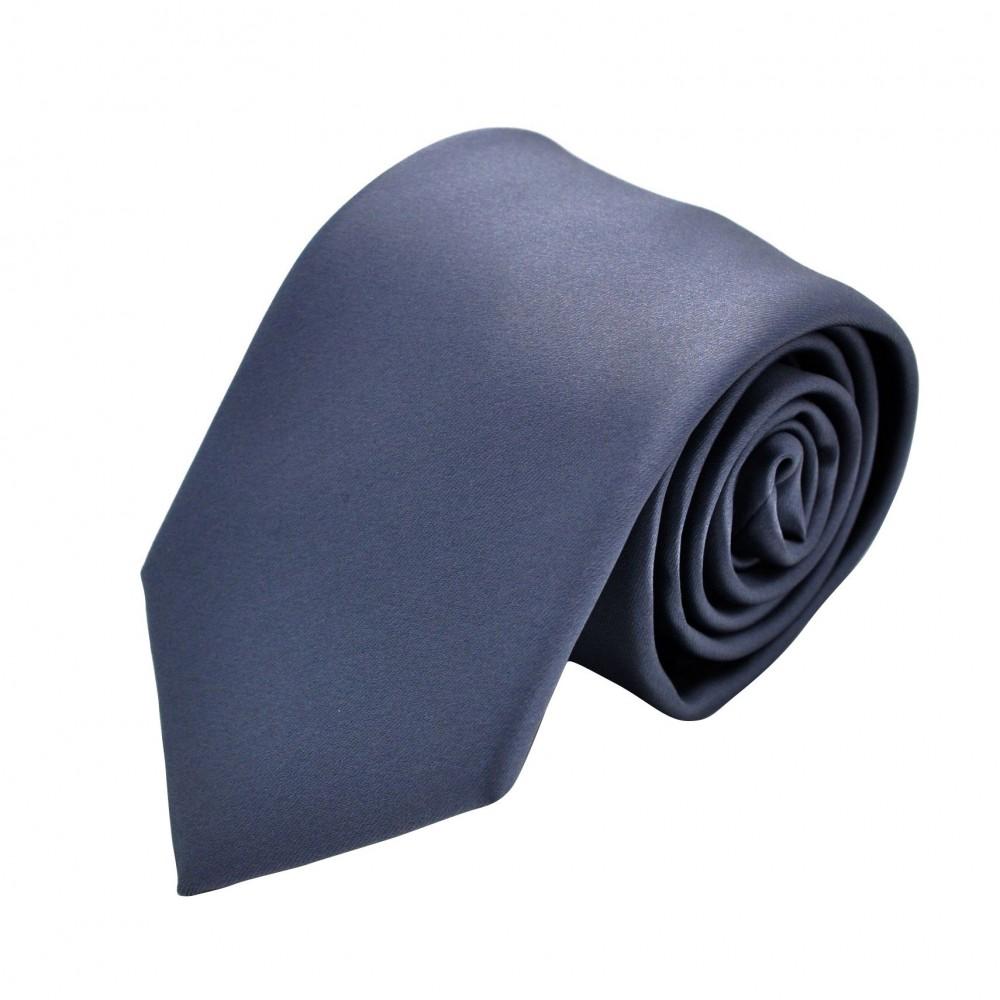 Cravate Homme Attora. Gris anthracite uni
