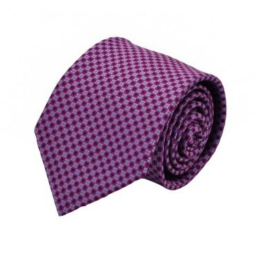 Cravate Homme Attora. Violet à motifs carrés