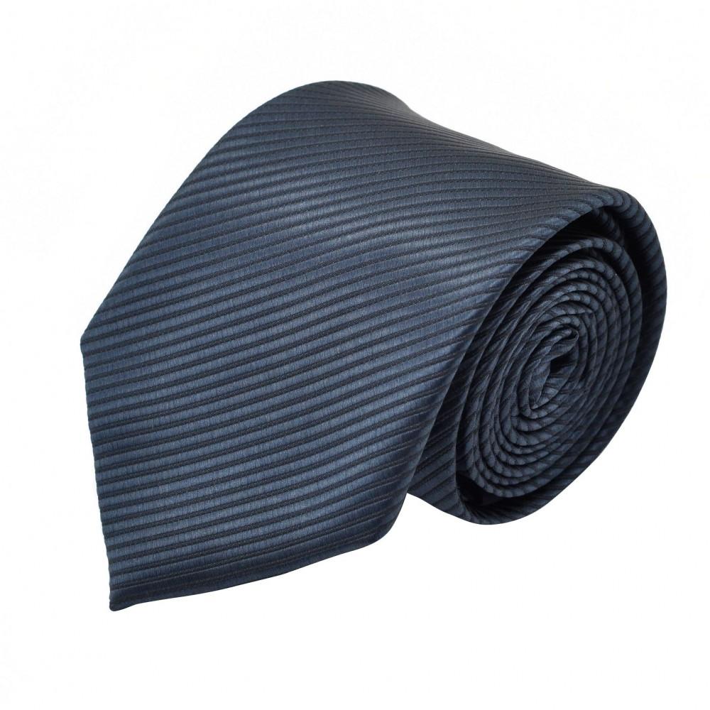 Cravate Homme Classique. Gris foncé à fines rayures.