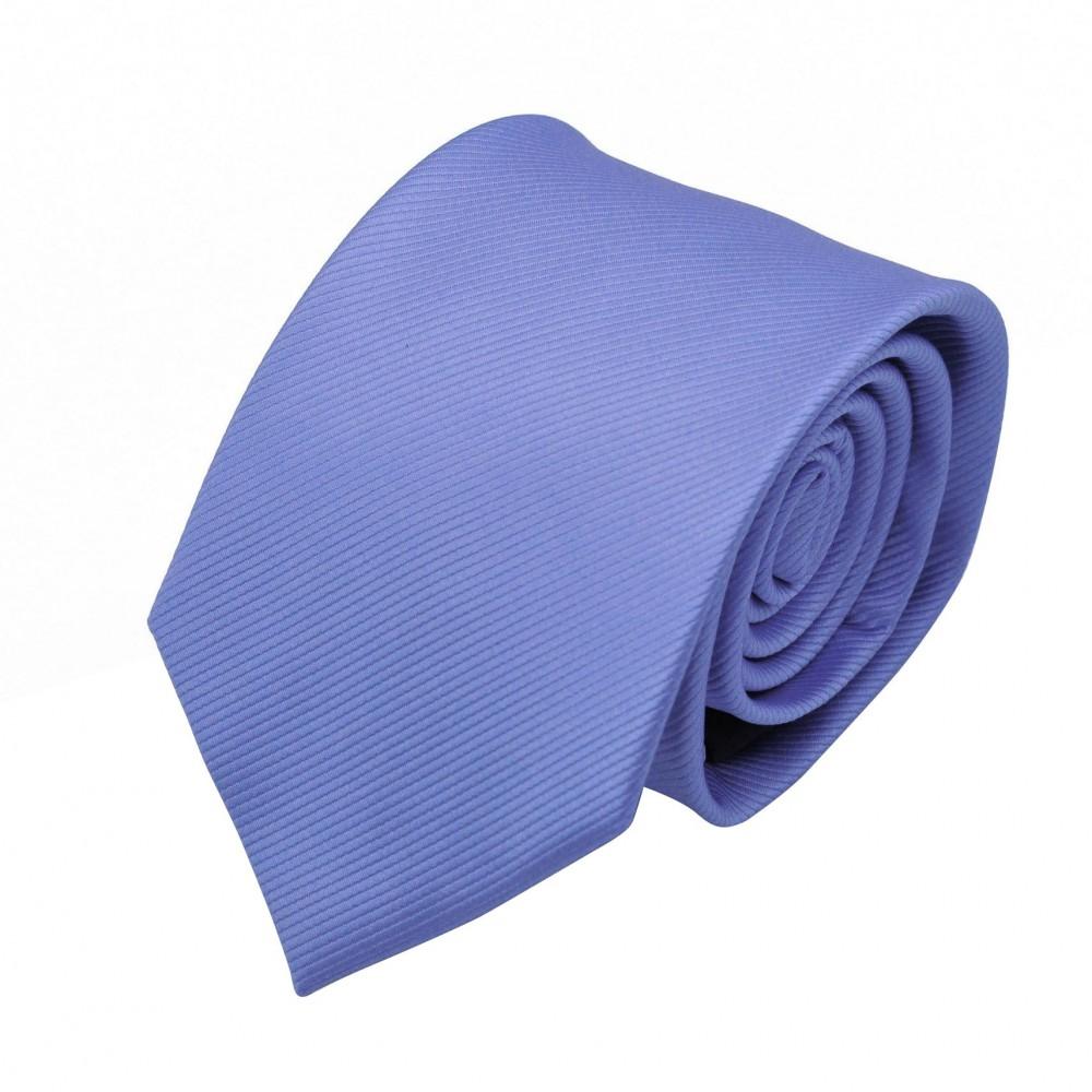 Cravate Homme Classique. Bleu lavande strié