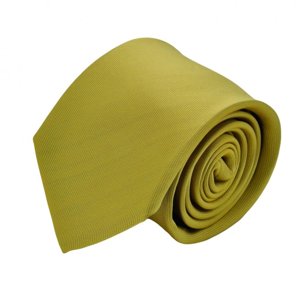Cravate Homme Classique. Jaune vert uni