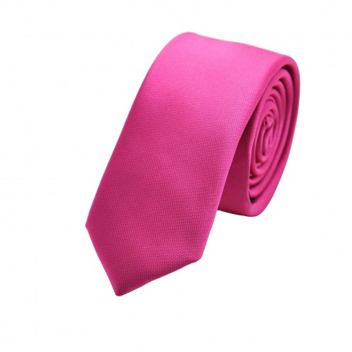 Cravate Attora. Rose flashy. Slim, étroite.
