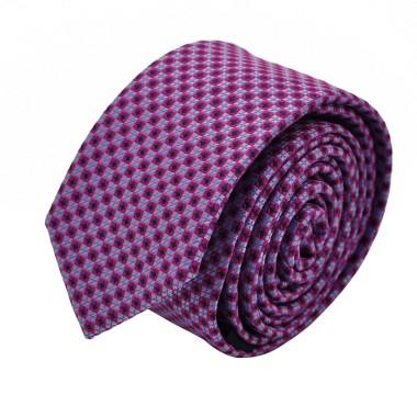 Cravate Slim homme Violette à motifs