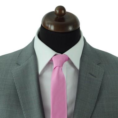 Cravate Slim Homme. Strié Rose