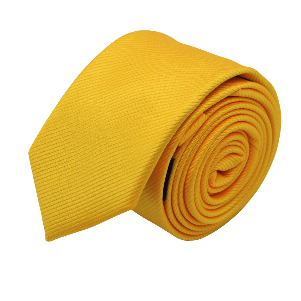 Cravate Slim Homme. Strié Jaune