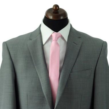 Cravate Slim Homme. Très fin quadrillage Rose