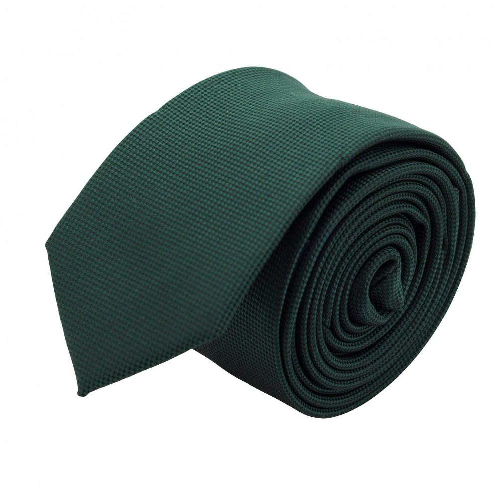 Cravate Slim Homme. Très fin quadrillage Vert bouteille