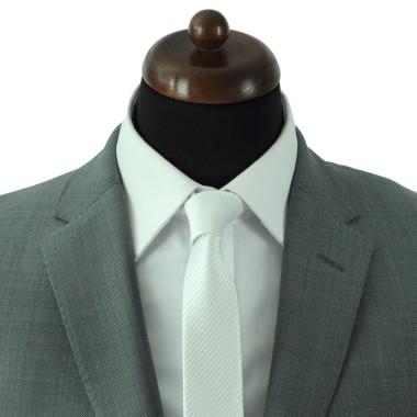 Cravate Slim Homme. Blanc rayé