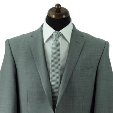 Cravate Slim Homme. Gris à petits carrés