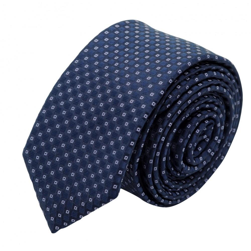 Cravate Slim Homme. Bleu à petits motifs