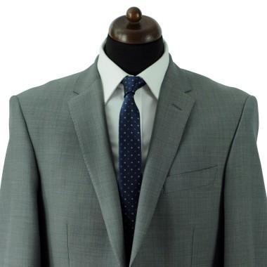 Cravate Slim Homme. Bleu à motifs carrés
