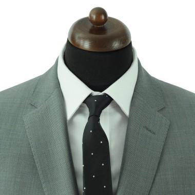 Cravate Slim Homme. Noir à pois blancs