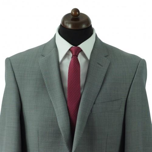 Cravate Slim Homme. Bordeaux à motifs carrés