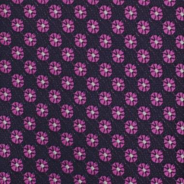 Cravate Slim Homme. Violet à petits motifs fleuris