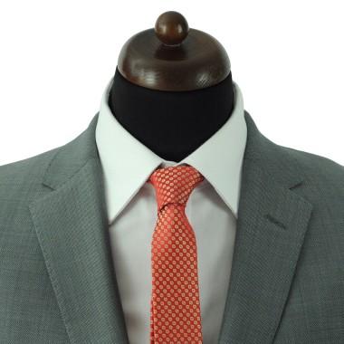 Cravate Slim Homme. Oranger à petits motifs fleuris