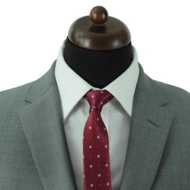 Cravate Slim Homme. Bordeaux à motifs bleu ciel