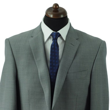 Cravate Slim Homme. Bleu Marine à fleurs