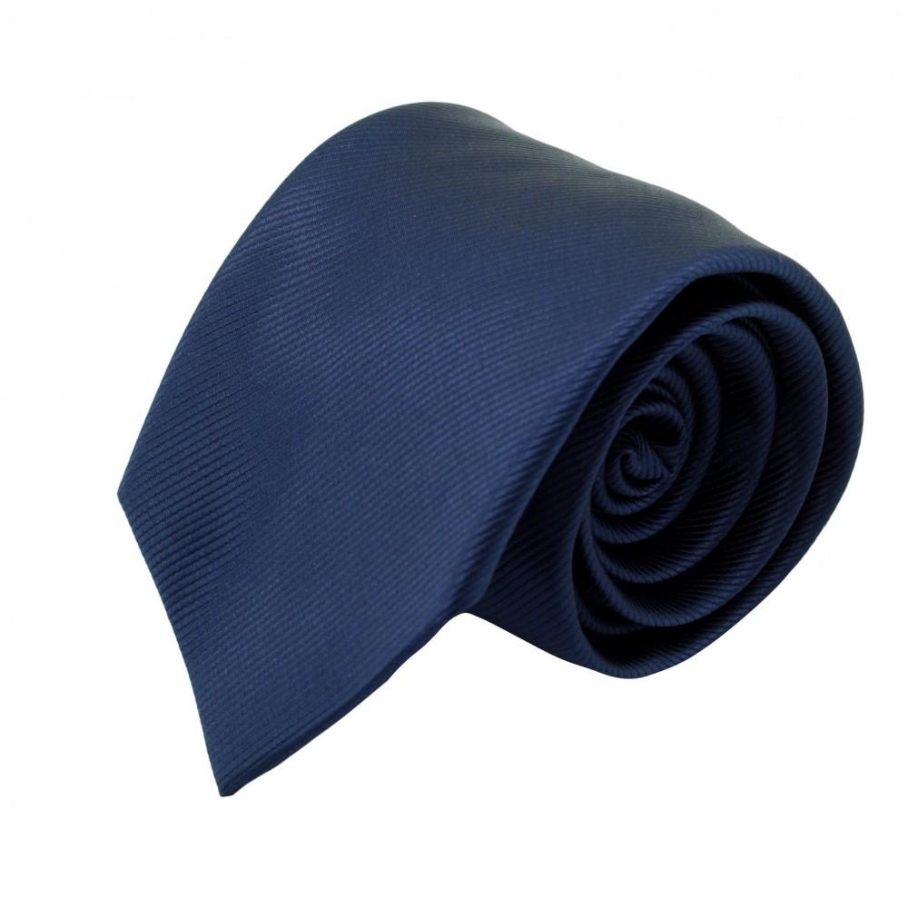 Cravate Classique Homme. Strié Bleu Marine