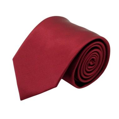 Cravate Classique Homme. Strié Bordeaux