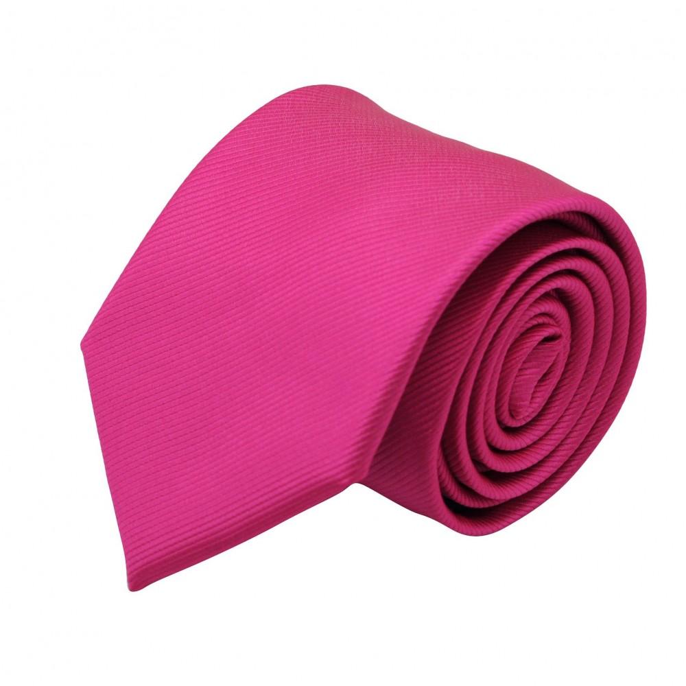 Cravate Classique Homme. Strié Fuchsia