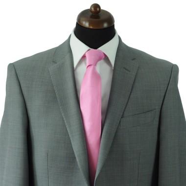 Cravate Classique Homme. Strié Rose