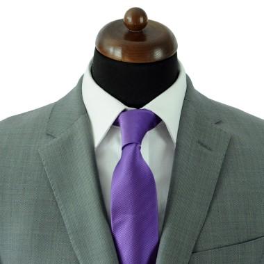 Cravate Classique Homme. Strié Violet