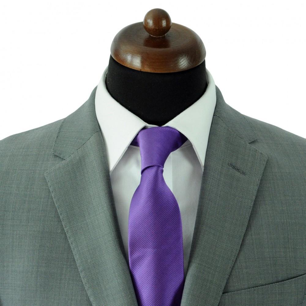 27ea590637c62 Strié Violet · Cravate Classique Homme. Strié Violet ...