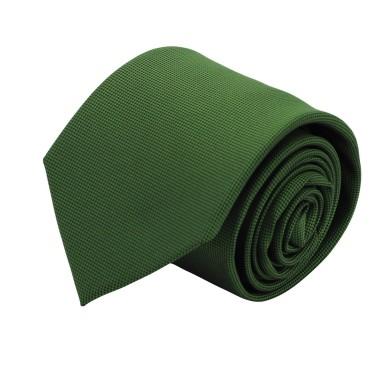 Cravate Classique Homme. Très fin quadrillage Vert