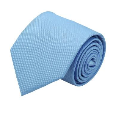 Cravate Classique Homme. Très fin quadrillage Bleu Ciel