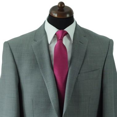 Cravate Classique Homme. Très fin quadrillage Fuchsia
