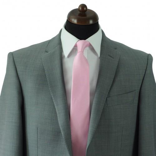 Cravate Classique Homme. Très fin quadrillage Rose