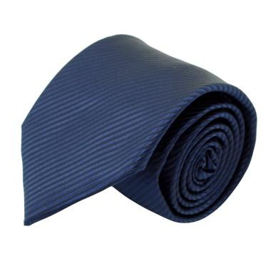 Cravate Classique Homme. Bleu Marine à rayures