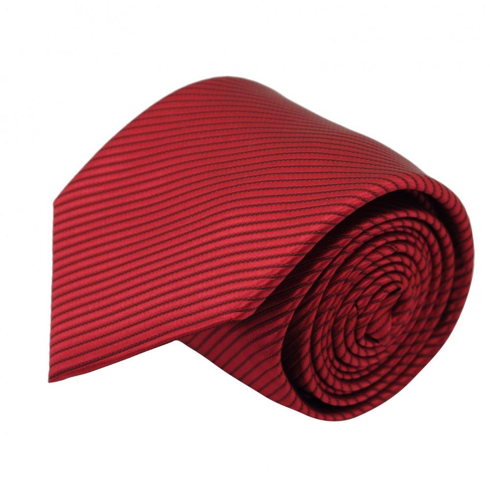 Cravate Classique Homme. Rouge à rayures