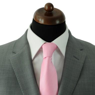 Cravate Classique Homme. Rose à rayures