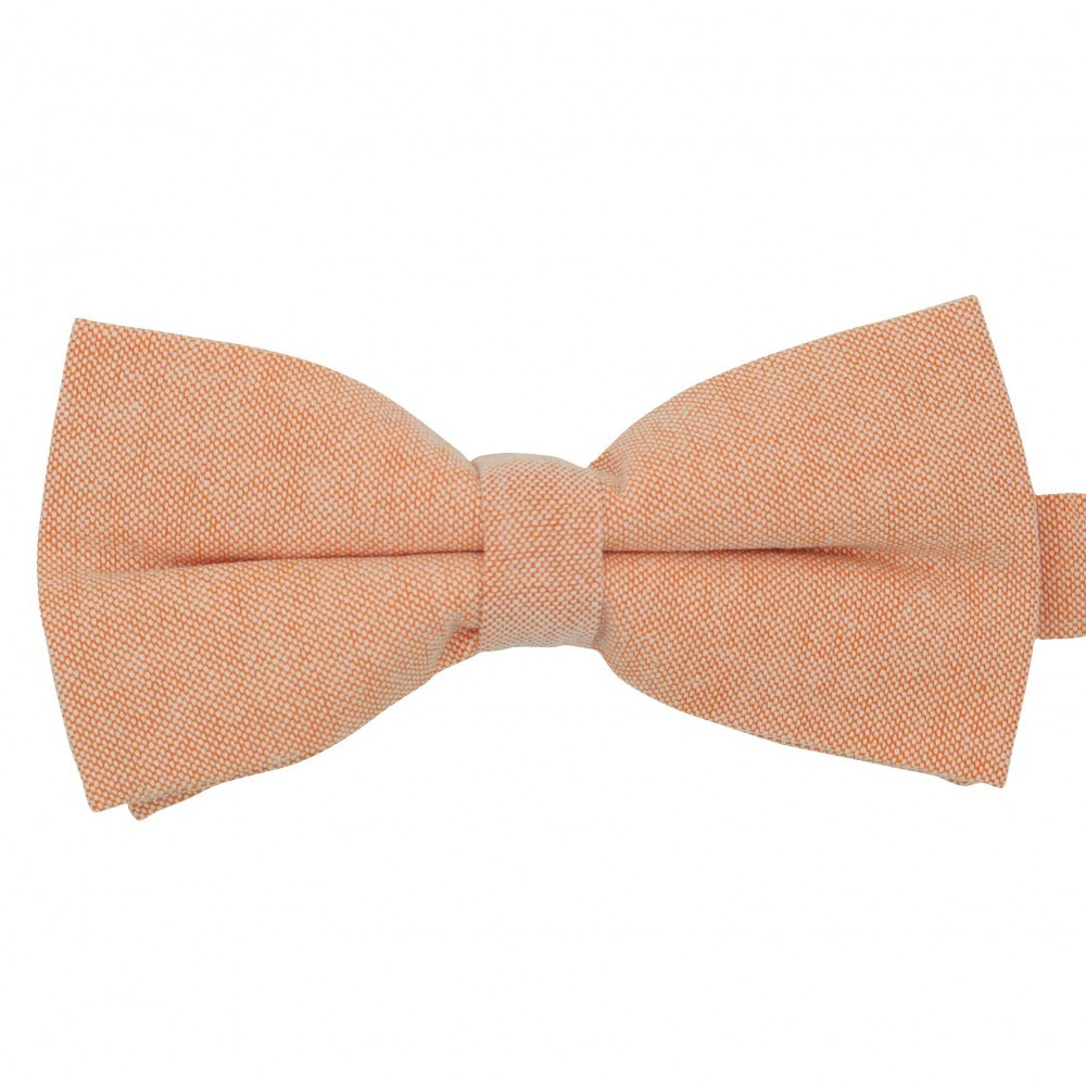 Noeud papillon pastel uni Orange. En Coton