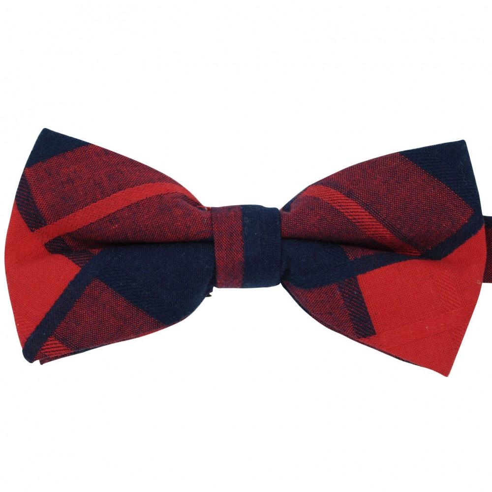 Noeud papillon à carreaux Bleu Marine et Rouge