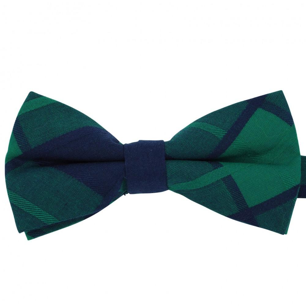 Noeud papillon à carreaux Bleu Marine et Vert