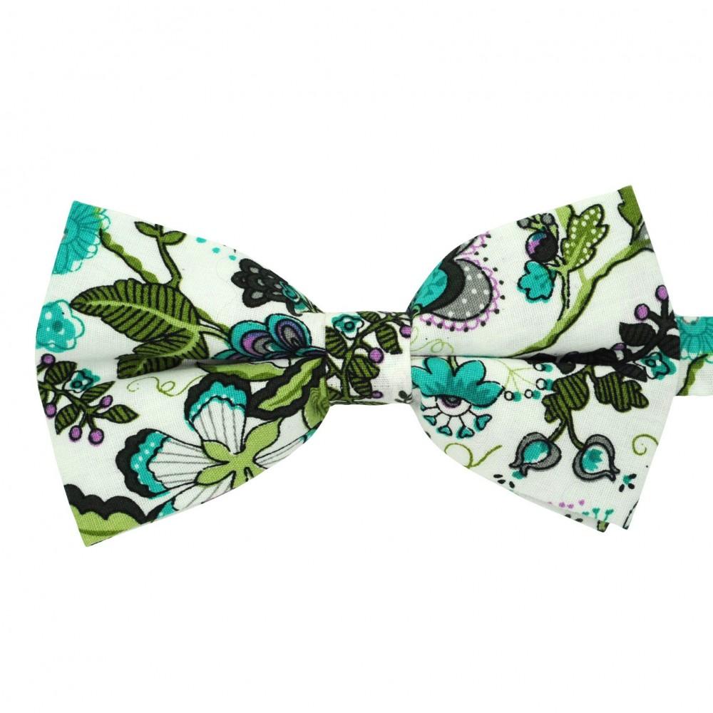 Noeud papillon 'Liberty' Vert à motifs