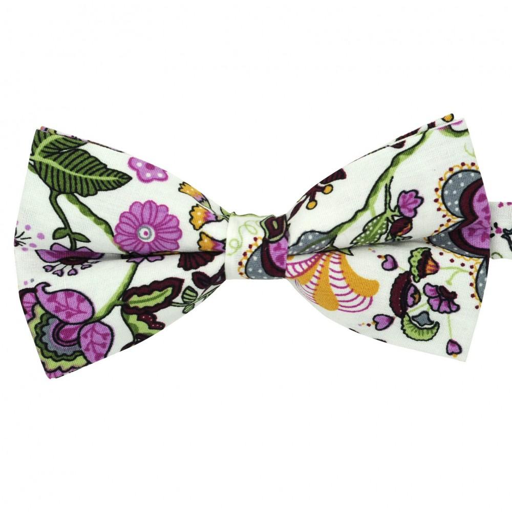 Noeud papillon 'Liberty' Violet à motifs