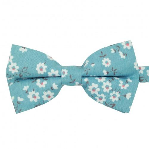Noeud papillon 'Liberty' Bleu à fleurs