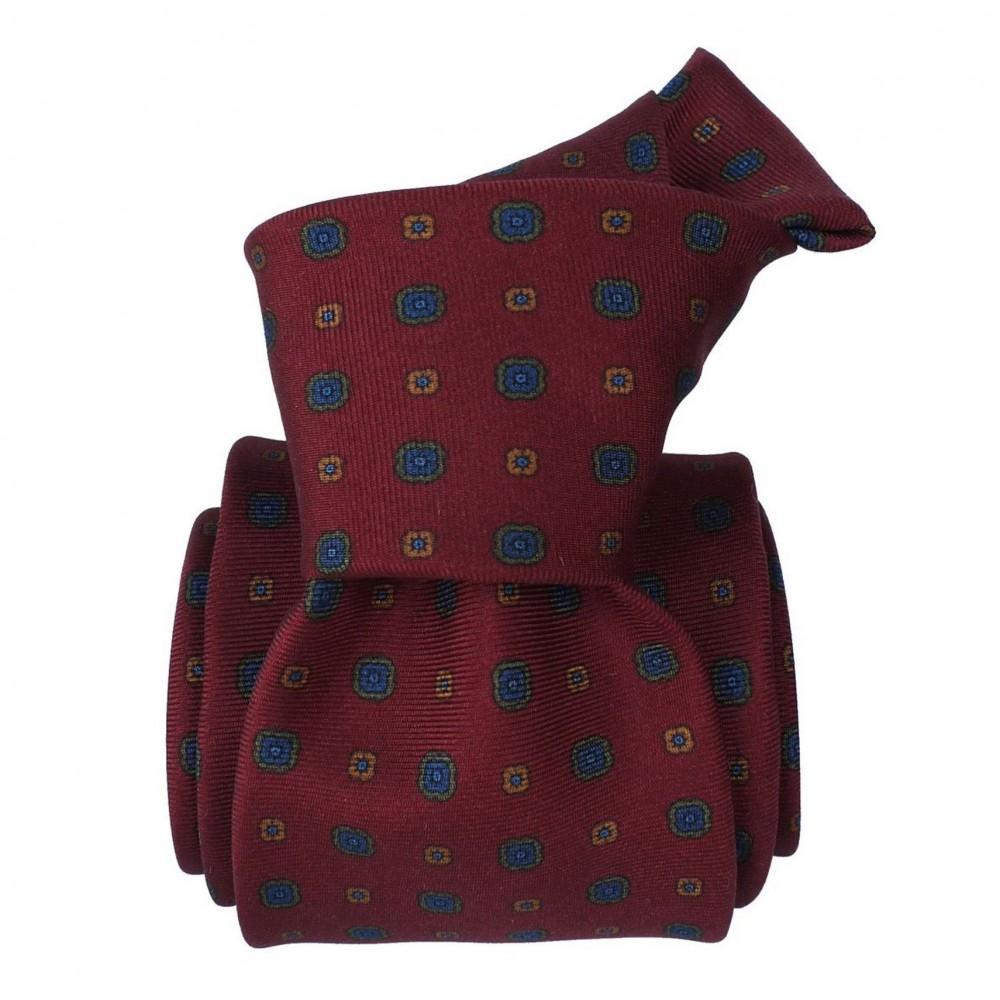 Cravate de Luxe 3-Plis, Bordeaux à motifs