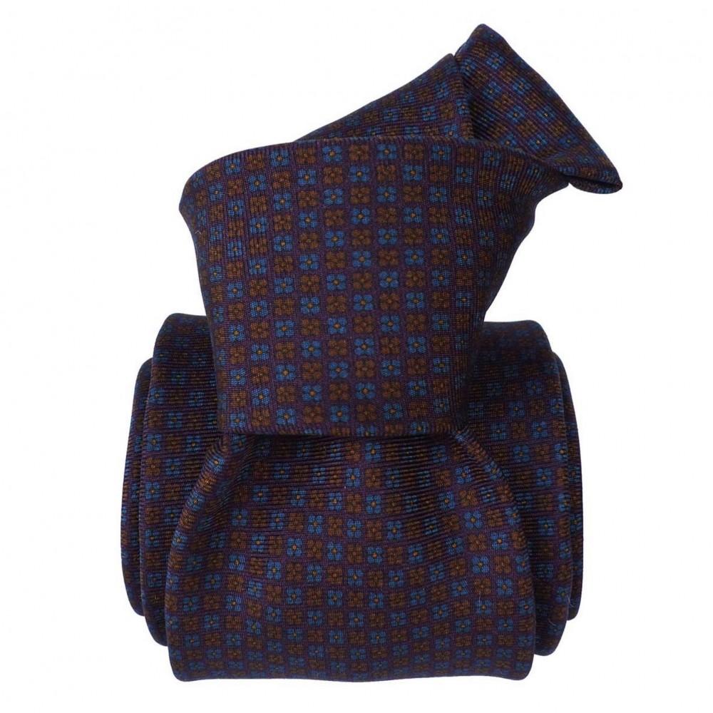 Cravate de Luxe 3-Plis, Violet à motifs