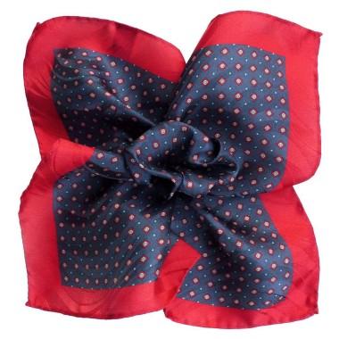 Pochette de costume Marine et Rouge à motifs