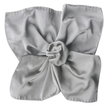 Pochette de costume en satin Gris acier