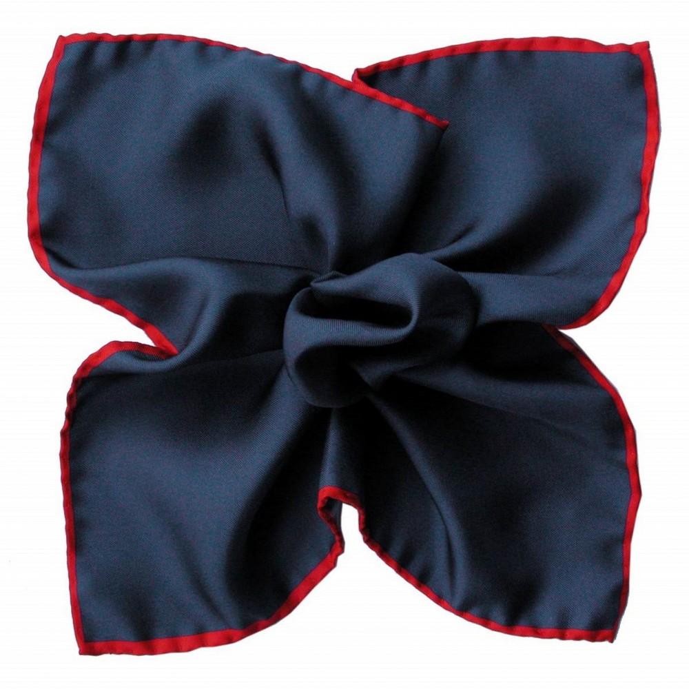 Pochette de costume Bleu marine à liseré Rouge