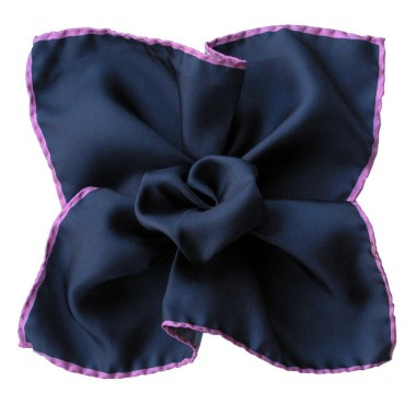 Pochette de costume Bleu marine à liseré Violet