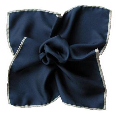 Pochette de costume Bleu marine à liseré gris