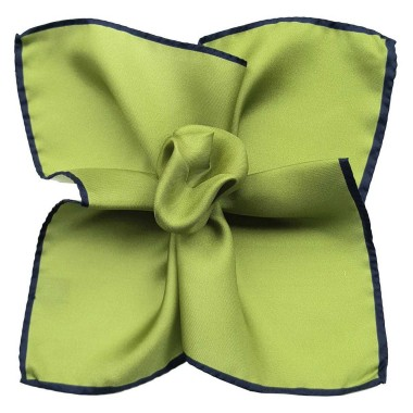 Pochette de costume Vert à liseré marine