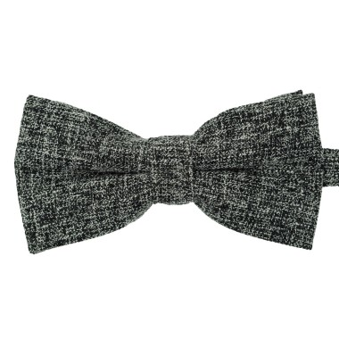 Noeud papillon homme Noir tweed chiné